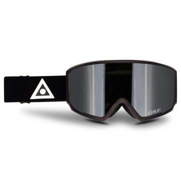 2021 Ashbury Arrow Snow Goggle Black Triangle Frame with a Silver Mirror Lens and Yellow Spare Lens