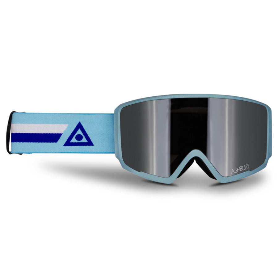 2021 Ashbury Arrow Snow Goggle Vector Frame with a Silver Mirror Lens and Yellow Spare Lens