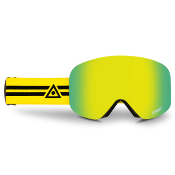 2021 Ashbury Hornet Snow Goggle Lenix Frame with a Gold Mirror Lens and Yellow Spare Lens