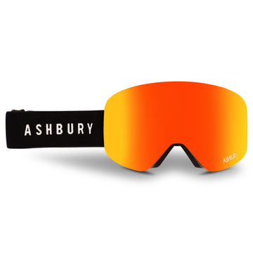 2021 Ashbury Hornet Snow Goggle Burner Frame with a Red Mirror Lens and Yellow Spare Lens