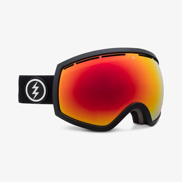2021 Electric EG2 Snow Goggle with a Matte Black Frame and a Brose Red Chrome Lens