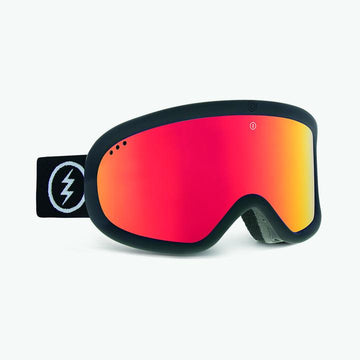 2021 Electric Charger Snow Goggle with a Matte Black Frame and a Light Green Lens and a Brose Red Chrome Spare Lens