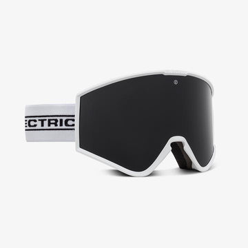 2021 Electric Kleveland Snow Goggle with a White Tape Frame and a Light Green Lens and a Jet Black Spare Lens