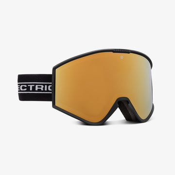 2021 Electric Kleveland Snow Goggle with a Black Tape Frame and a Light Green Lens and a Brose Gold Chrome Spare Lens