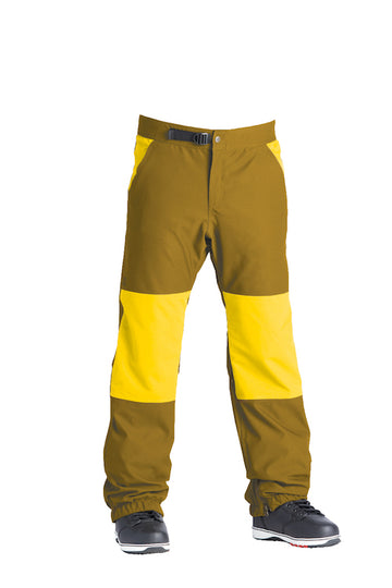 2021 Airblaster Elastic Boss Pant in Gold Yolo