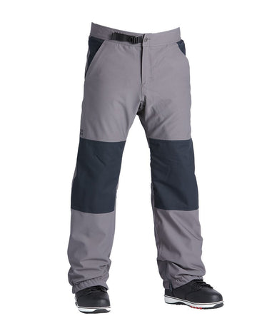 Airblaster Elastic Boss Snowboard Pant in Pewter Grey