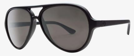 Electric Elsinore Sunglass in Matte Black and Silver Polarized Lens