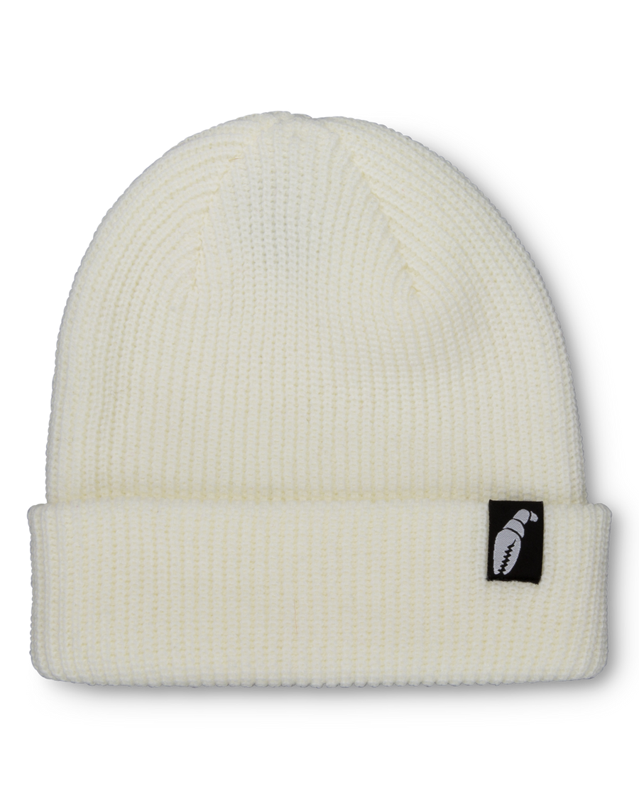 2021 Crab Grab Claw Label Beanie in White