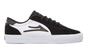 Lakai Flaco 2 Skate Shoe in Black and White Suede