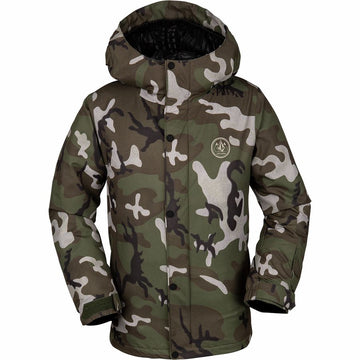 2020 Volcom Ripley Insulated Snow Boys Jacket in GI Camo