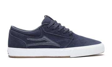 Lakai Griffin Skate Shoe in Navy Suede
