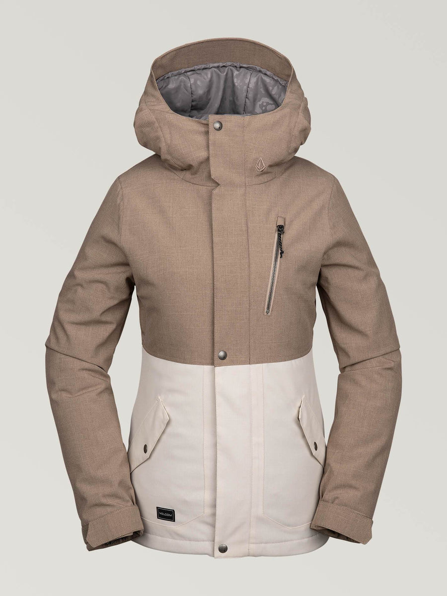 2020 Volcom Ashlar Insulated Womens Jacket in Sand Brown