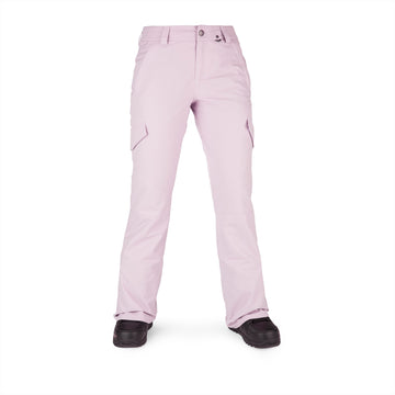 2022 Volcom Womens Bridger Insulated Pant in Hazey Pink