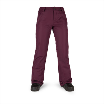 2022 Volcom Womens Frochickie Insulated Pant in Merlot