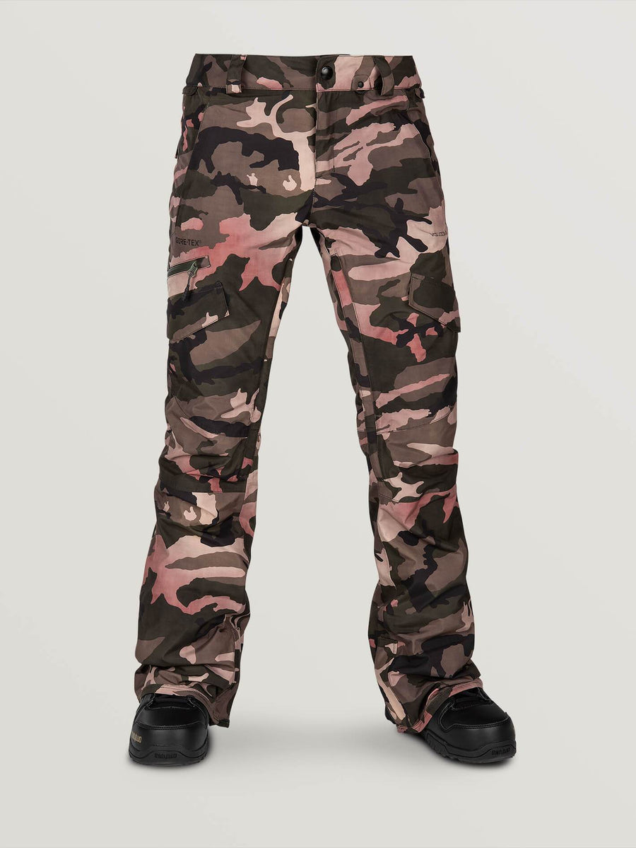2020 Volcom Womens Aston Gore-Tex Pant in Faded Army Camo