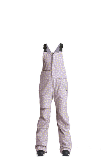 2022 Airblaster Hot Bib Womens Snow Pant in Lavender Daisy