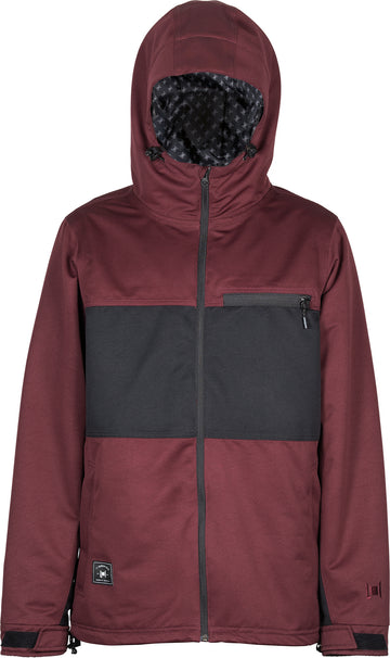 2021 L1 Hasting Snow  Jacket in Wine and Black