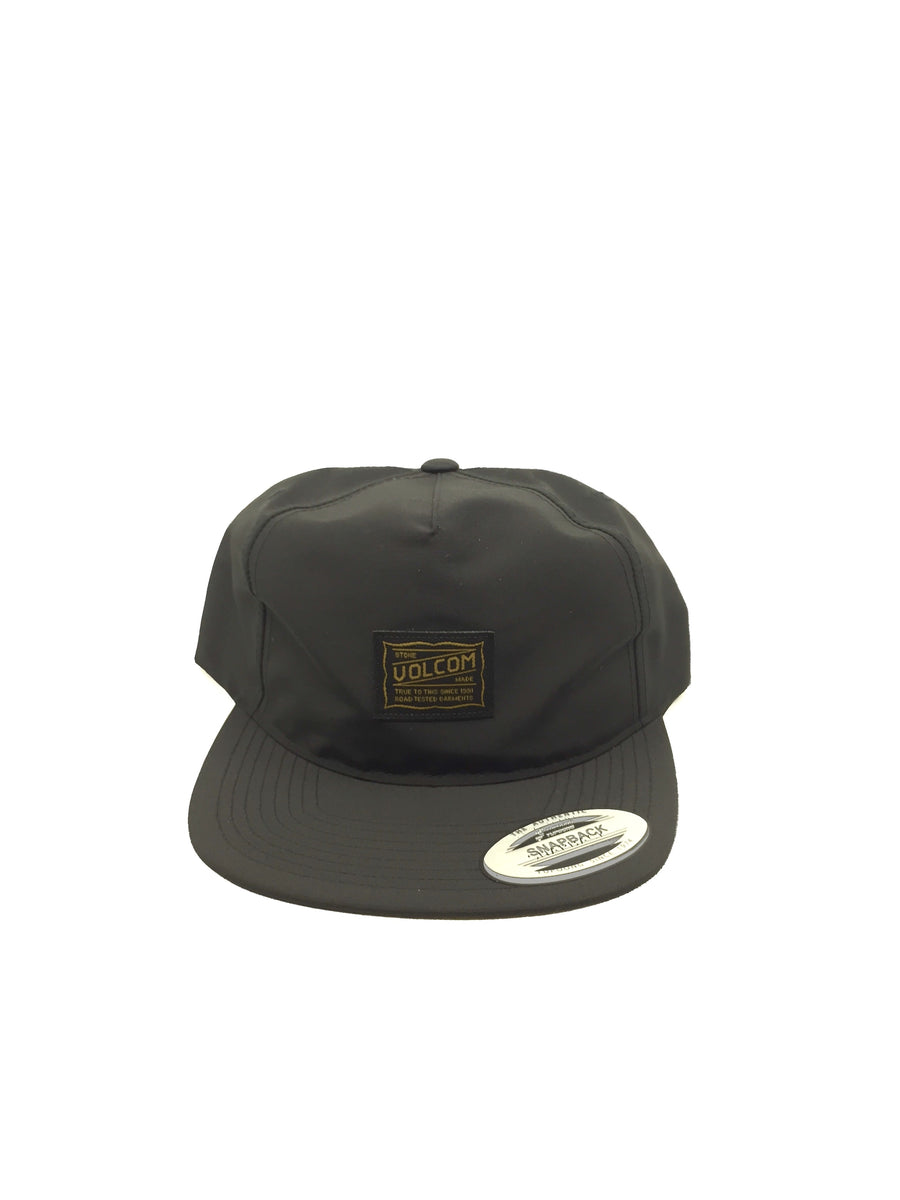 Volcom Road Test Snapback Hat in Black