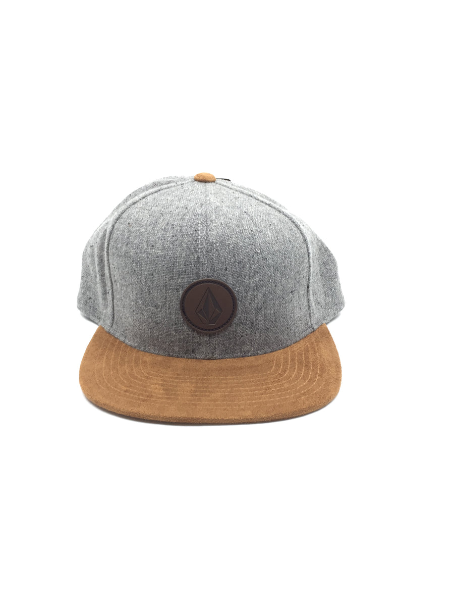Volcom Quarter Fabric Snapback Hat in Storm