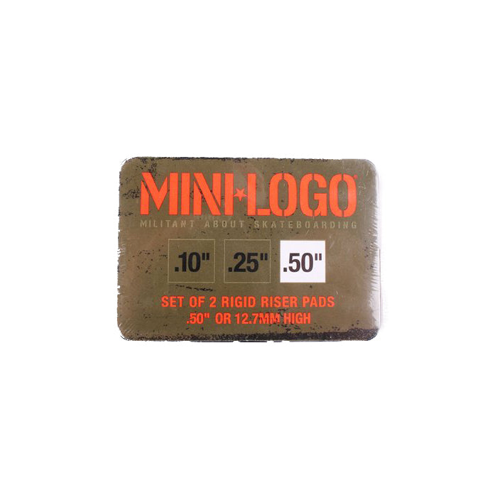 Mini Logo Rigid Riser .5'' (set of two)