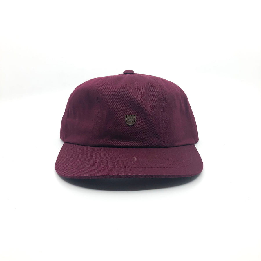 Brixton B-Shield III Cap in Maroon