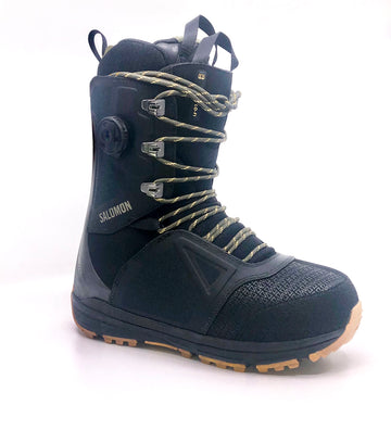 2020 Salomon Lo-Fi Snowboard Boot in Black Spectra Yellow and Olive Night