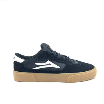 Lakai Cambridge Skate Shoe in Black and Gum Suede
