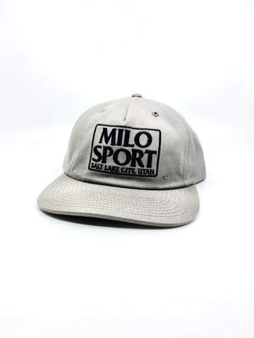 Milo Dad Embroidered Square Hat in Grey