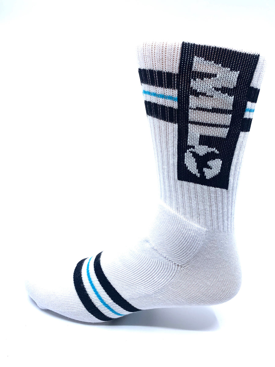 Milo Team Sock in White and Blue