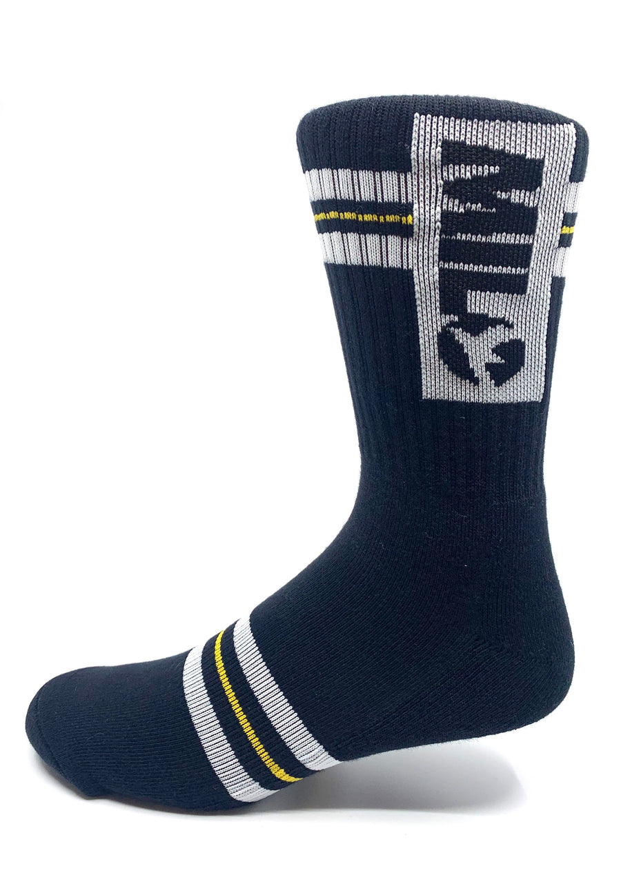 Milo Team Sock in Black and Gold