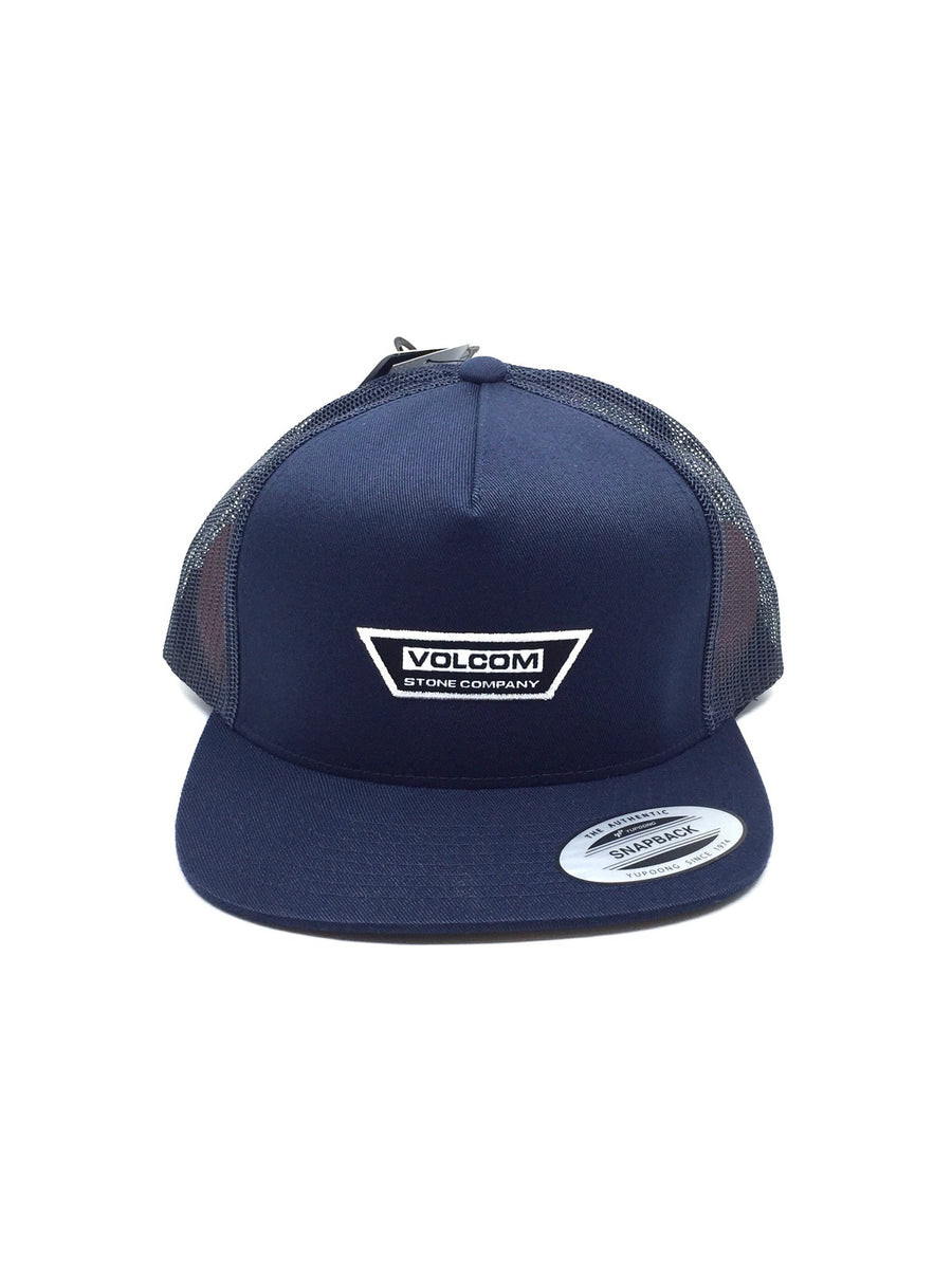 Volcom Trapezoid Cheese Snapback Hat in Navy