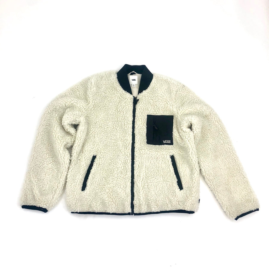Vans Misty Fog Sherpa Jacket in Bone White