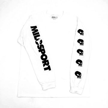 Milosport Skull Long Sleeve Shirt in White