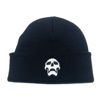 Death Leather Beanie in Black