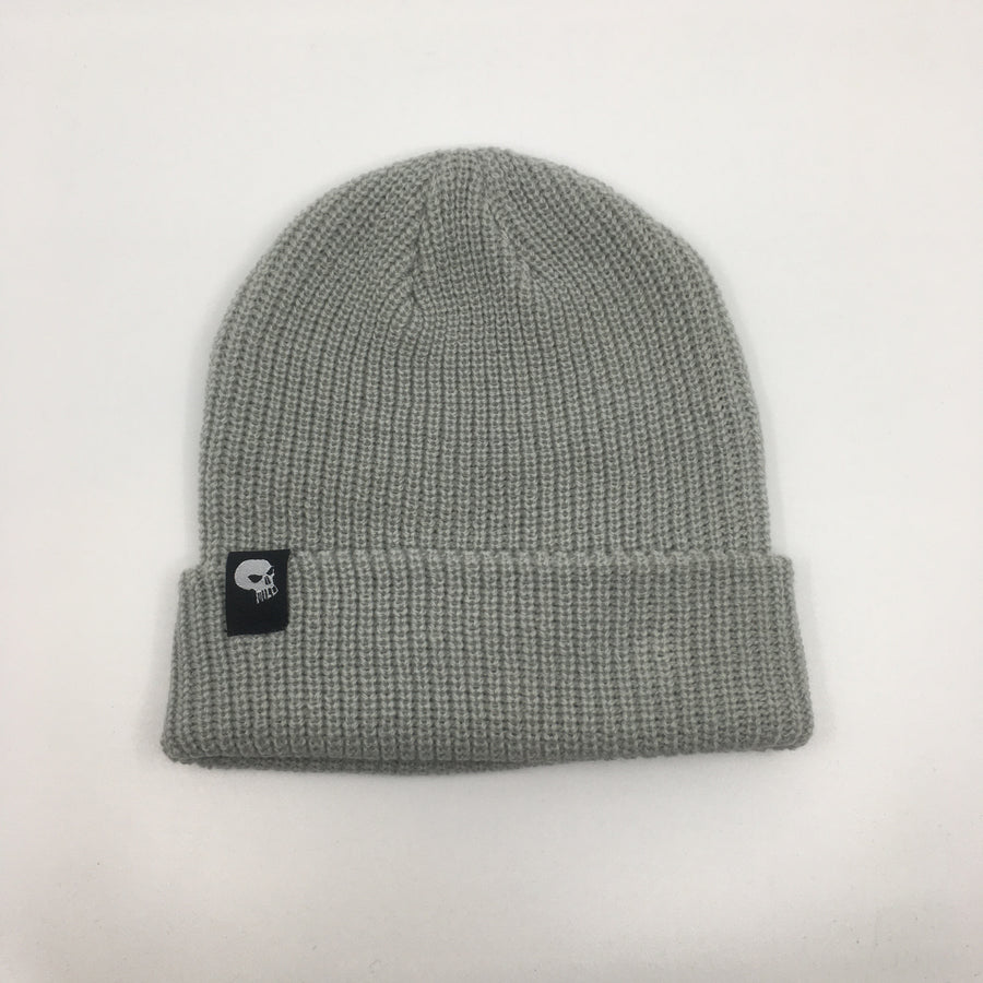 Milosport Skull & Bird Beanie in Grey