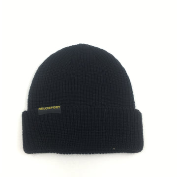 Milosport Long Tag Beanie in Black