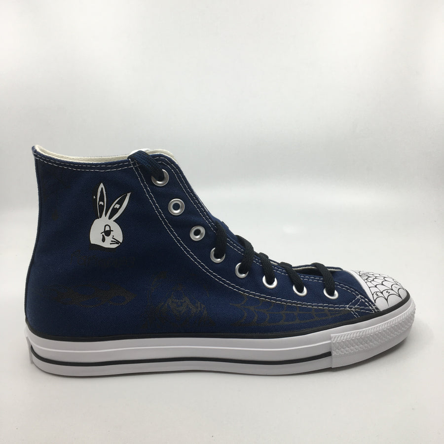 Converse CTAS Pro Sean Pablo Hi in Navy and Black and White