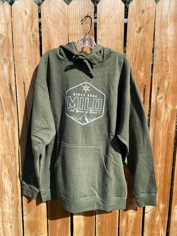Milosport Star of SLC Hoodie in Army Green