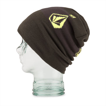 2022 Volcom Deadly Stones Beanie in Black Green