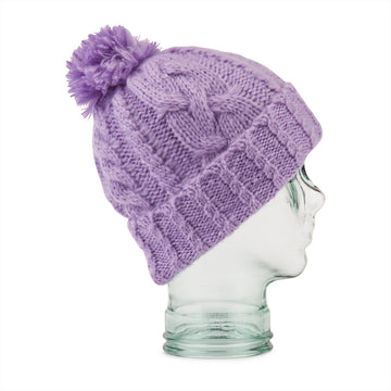 2022 Volcom Womens Leaf Beanie in Lavender