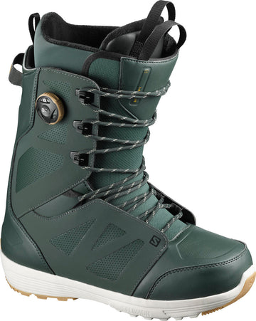 2021 Salomon Launch Lace Boa Straight Jacket Mens Snowboard Boot in Green Gables