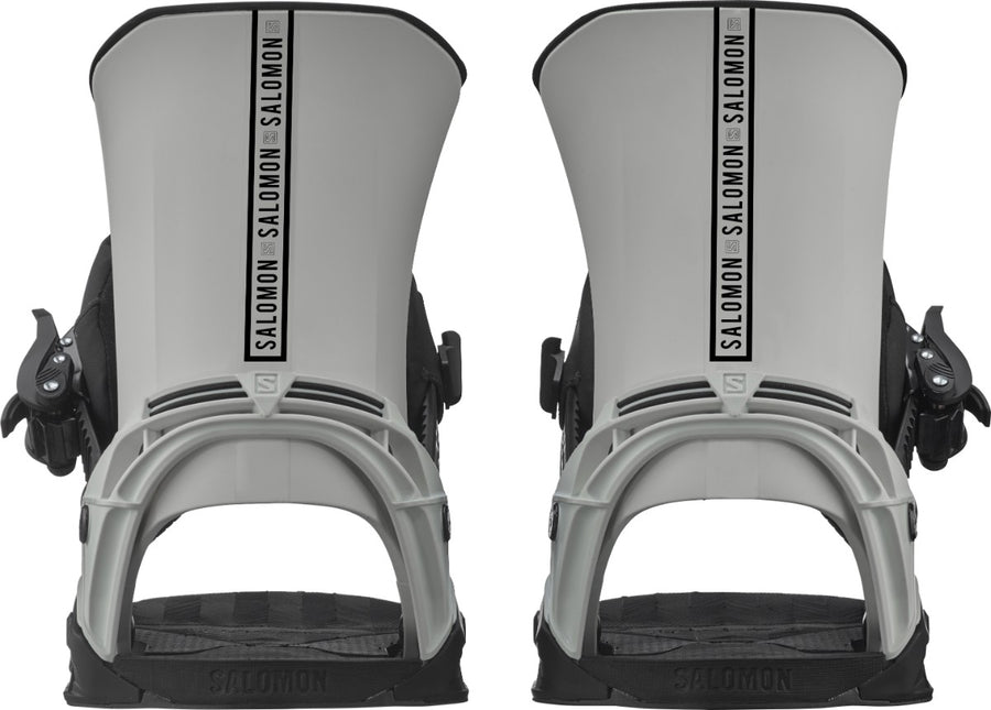 2021 Salomon District Mens Snowboard Bindings in Light Grey