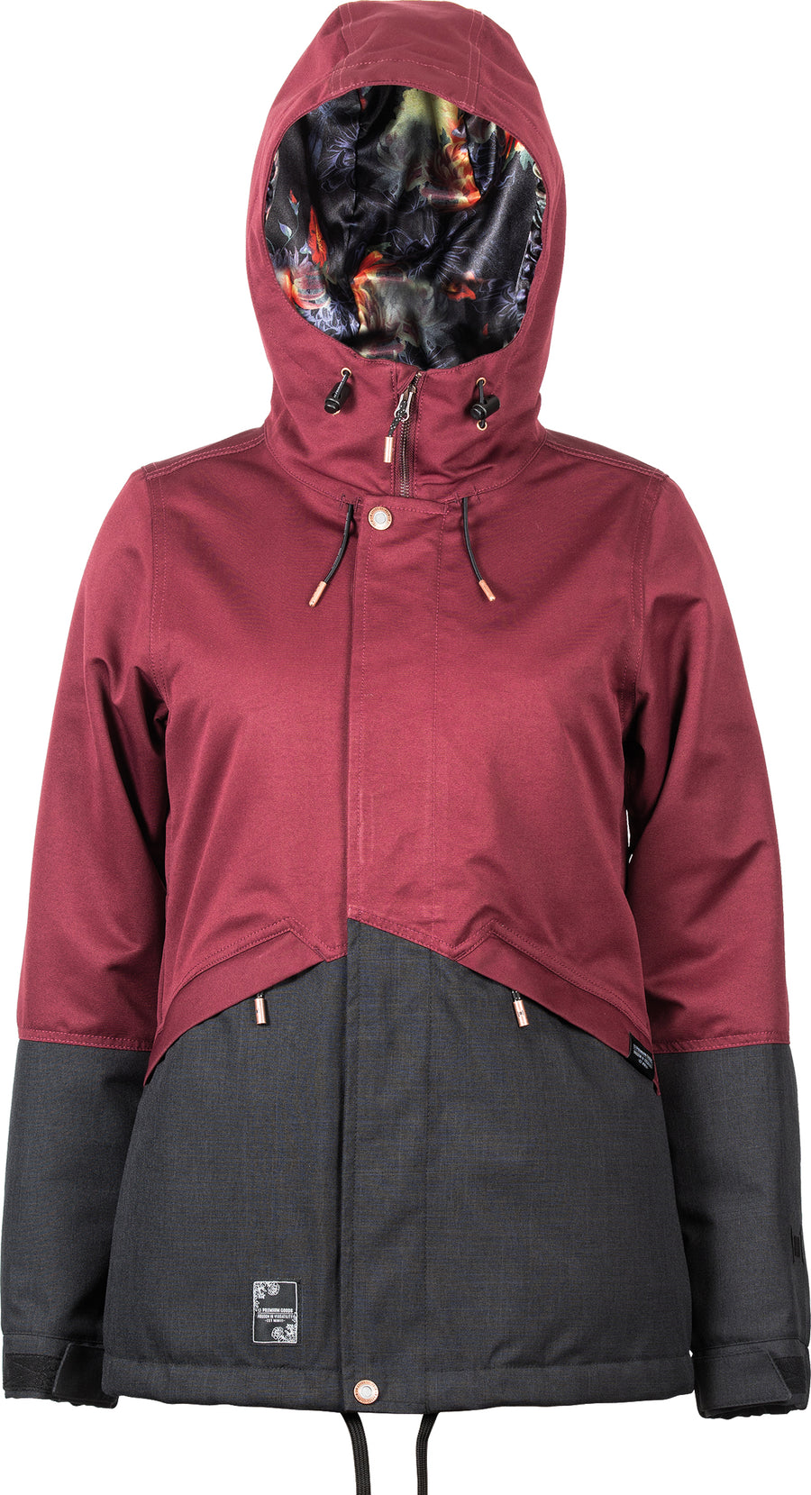 2021 L1 Lalena Womens Snow Jacket in Wine and Black