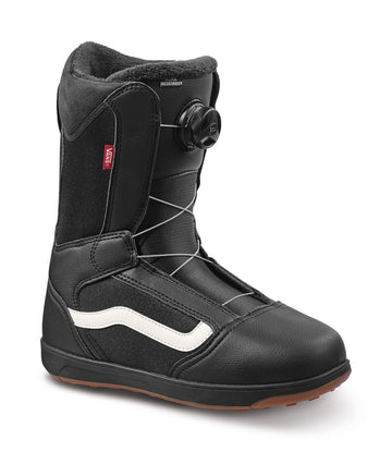 2022 Vans Aura Linerless Snowboard Boot in Black and Gum side view
