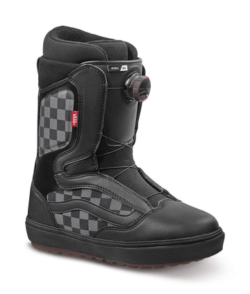2022 Vans Aura Og Snowboard Boot in Checkerboard and Black side view