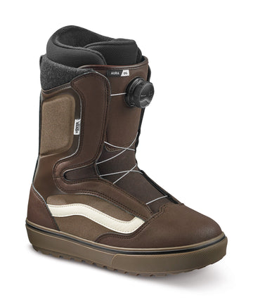 2022 Vans Aura Og Snowboard Boot in Demitasse and Dark Gum side view