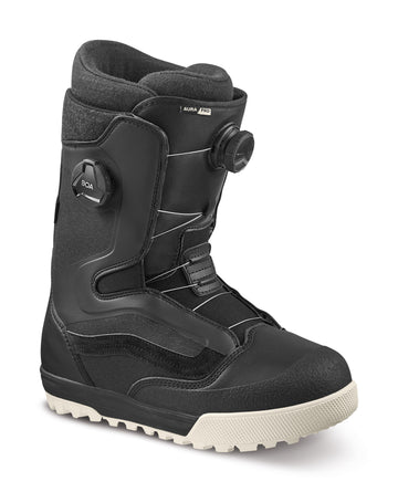 2022 Vans Aura Pro Snowboard Boot in Black and Raven side view