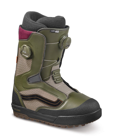 2022 Vans Aura Pro Snowboard Boot in Grape Leaf and Timberwolf side view