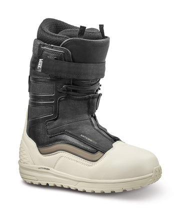 2022 Vans Hi-Country & Hell-Bound Snowboard Boot in Bone and Black Sam Taxwood Color