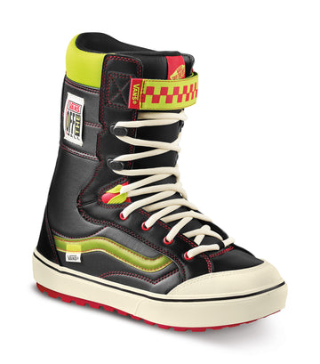 2022 Vans Hi-Standard Linerless Dx Snowboard Boot in Black and Neon